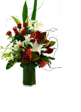 Modern Exotic Vase Arrangement