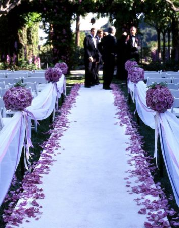 Bridal Pews and White carpet