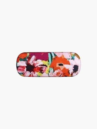 Pink Floral Print Glasses Case