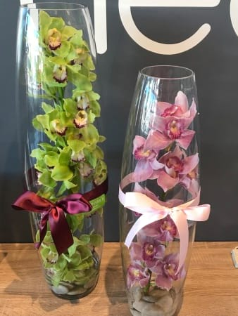 Belly Vase with Orchids