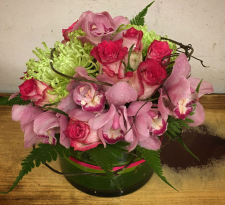 Pretty in Pink Orchid Vase