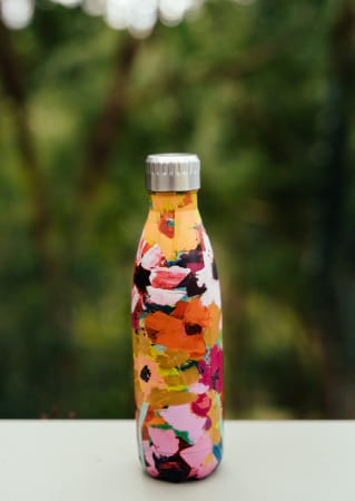 Anna Blatman Pink Floral Print Insulated Water Bottle