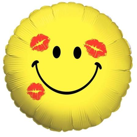 Smiley Kisses Balloon