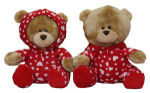 Valentine Teddy in Pajamas