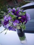 Purple Vase of Flowers